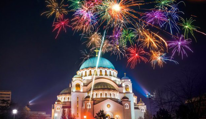 Fireworks For Serbian New Year