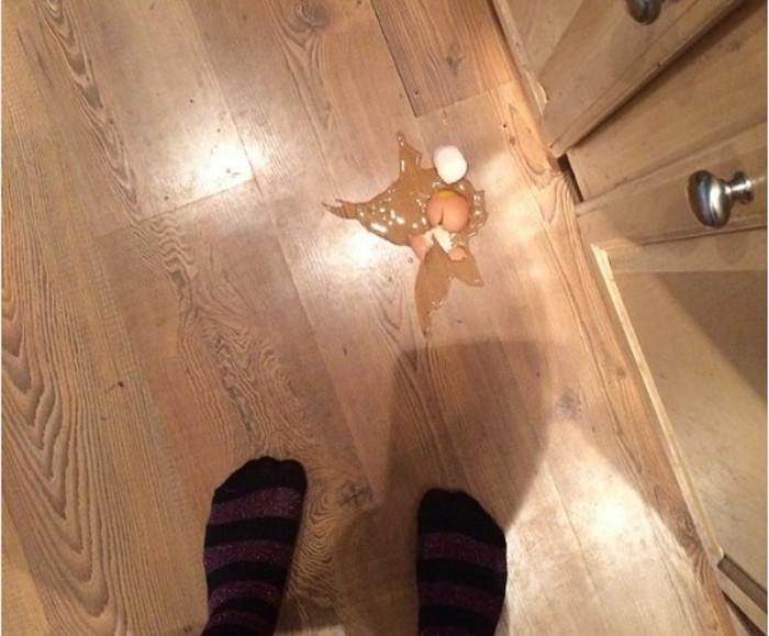 Jaje na podu